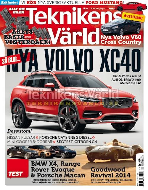 Testet med BMW X4, Porsche Macan och Range Rover Evoque finns i Teknikens Värld nummer 22/2014 som finns i butik från och med 9 oktober.