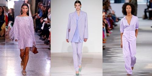 Lavendel på catwalken hos både Bottega Veneta, Victoria Beckham och Tibi.