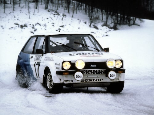 1979 Ari Vatanen i Ford Fiesta under Monte Carlo Rally