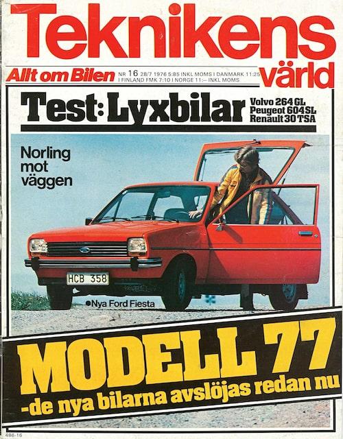 Testet av de tre bilarna med PRV-sexa under huven publicerades i Teknikens Värld nummer 16/1976.