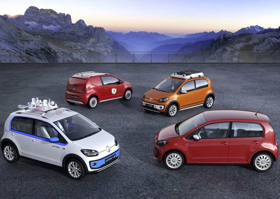 Volkswagen Swiss Up, Winter Up, X Up och Cargo Up