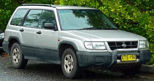 Så här såg Subaru Forester ut när det begav sig 1997... första generationen.