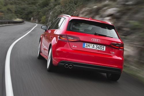 Audi A3 Sportback så som den ser ut från och med 2013.