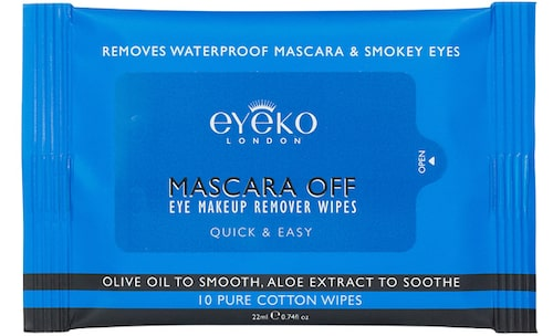 Mascararemover Mascara off eye wipes, 70 kr 10 st, Eyeko.