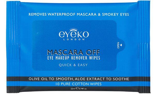 Mascararemover Mascara off eye wipes, 70 kr 10 st, Eyeko.