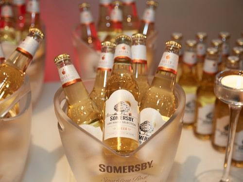 Somersby stod för drycken under kvällen.