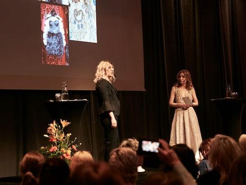 Camilla Läckberg och Martina Bonnier pratade stil och starka kvinnor – och Camilla avslöjade att hon har en hel källare som walk in closet!
