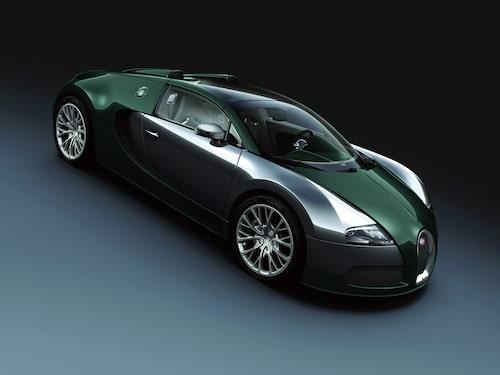 Bugatti Veyron Grand Sport i grön kolfiber.