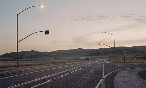 Vägkorsningen i Kalifornien där James Dean förolyckades