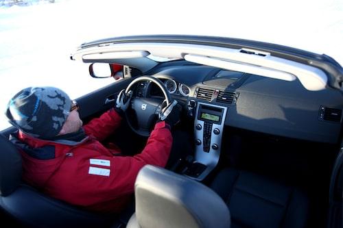 Hans Hedberg i Volvo C70.