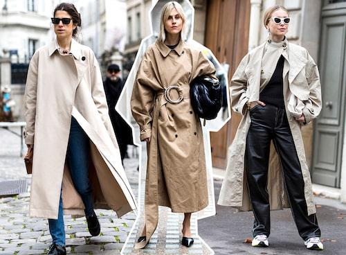 Leandra Medine Cohen, Lina Tol och Pernille Teisbaek i trendsäkra kappor.