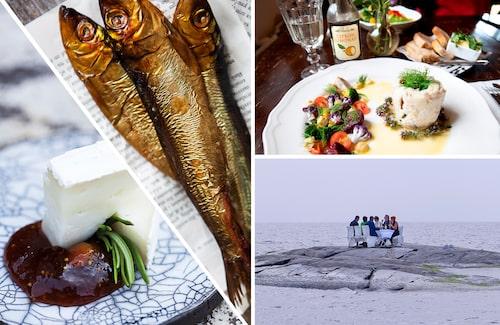 Drick bubbel och ät gott på en kobbe ute i havet – boka Dinner in the sea!