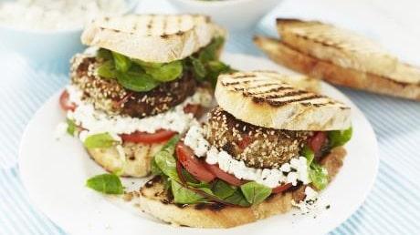 Vegetariska hamburgare