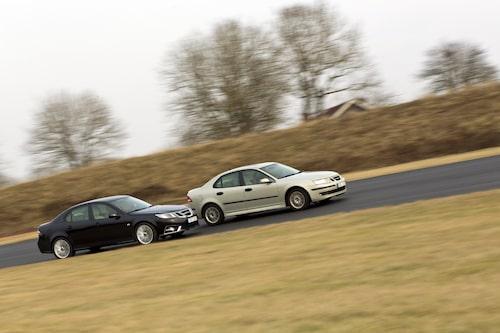 Saab 2014 möter 2004. Nevs har sedan december tillverkat cirka 150 bilar.