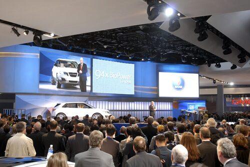 Premiären av nya Saab 9-4X var välbesökt.