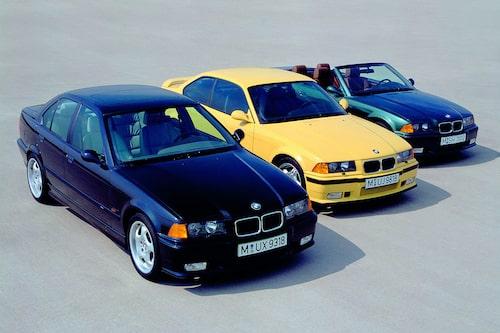 BMW M3 E36. 1992-1999. Karossversioner: Sedan, Coupé och Cabriolet.