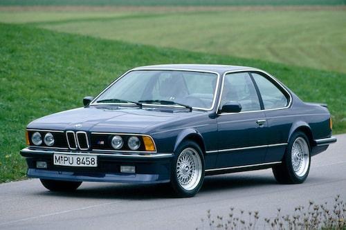 BMW M635 CSi E24. 1984-1989. Till skillnad från M535i räknas M635 CSi som en riktig M-bil.