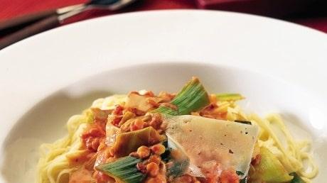 Tomat- och linssås till pasta