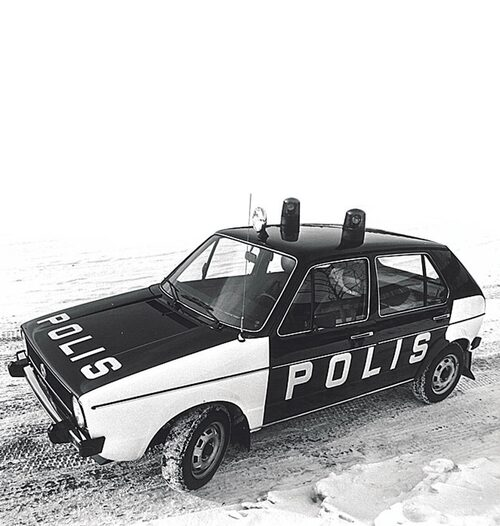 Golf blev liksom sin föregångare en av svenska polisens allra minsta radiobilar.