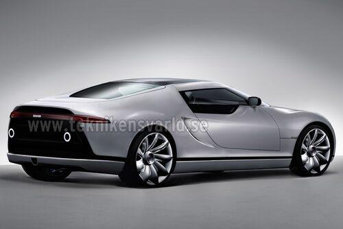 Baserad på Spyker C8 Aileron får kommande Saab Aero Sport mittmotor, Audi V8 eller Saab Turbo6.
