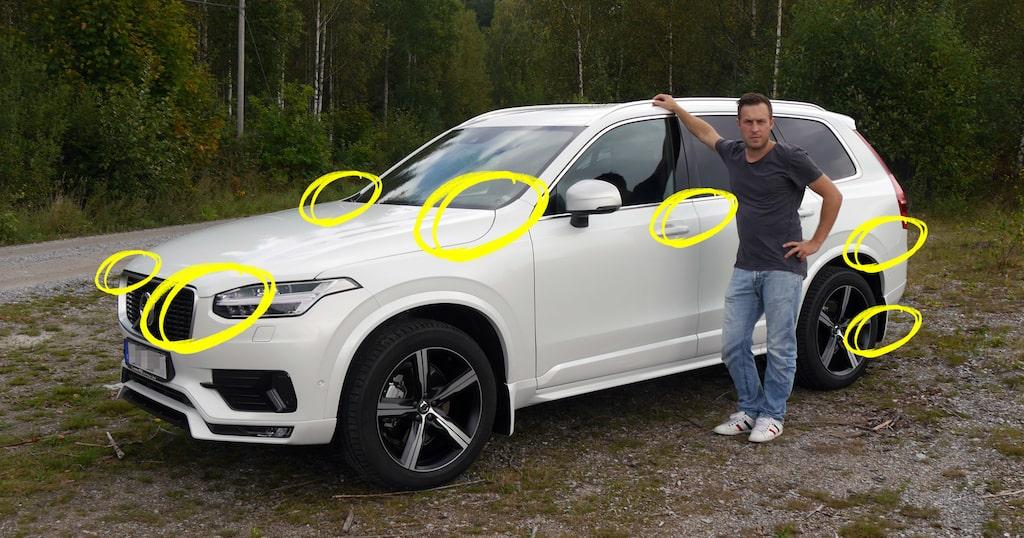 Mattias Andersson tycker att XC90 är en underbar bil, bortsett från alla skavanker som kom med från fabriken.