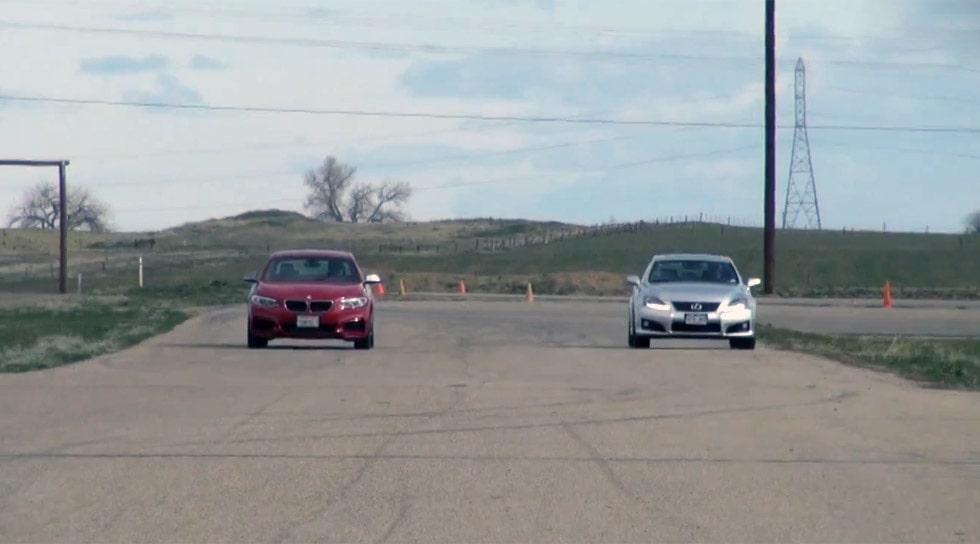 BMW M235i Coupé mot Lexus IS F