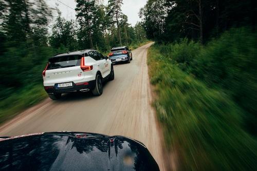 Test-Volvon är plockad ur en tidig serieproduktion. Modell 2020 utlovas få tystare drivlina.
