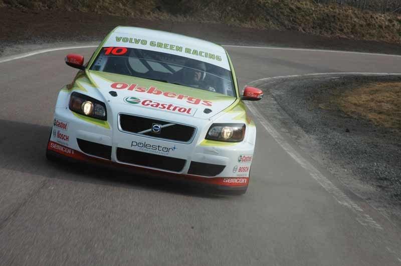 Provkörning av Volvo C30 Green Racing