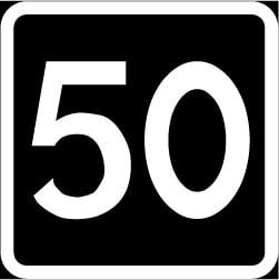 Bara rekommenderad hastighetsgräns vid vägarbeten.