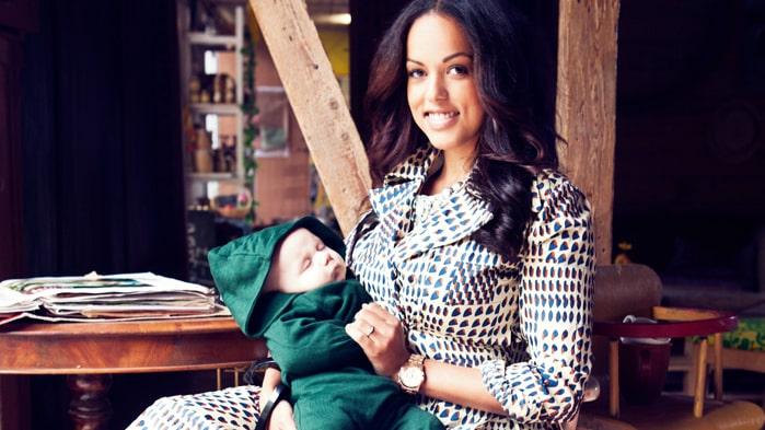 Elaine Eksvärd och sonen Matheo, 4 månader.