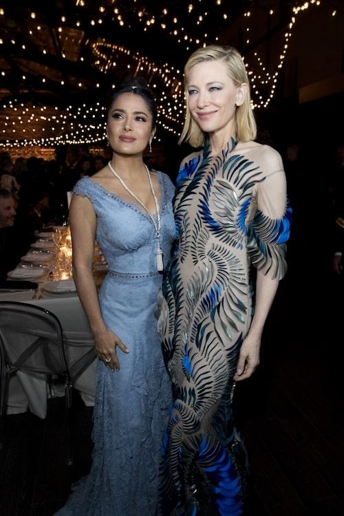 Salma Hayek i Gucci och Cate Blanchett i Iris van Herpen.