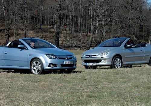 Provkörning av Peugeot 206 CC mot Opel Tigra Twin Top