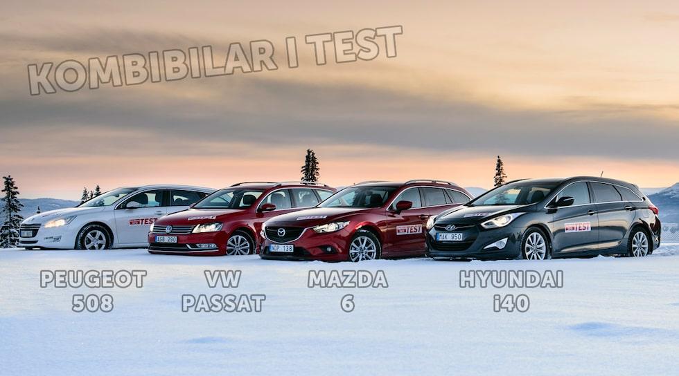 Peugeot 508, Volkswagen Passat, Mazda 6 och Hyundai i40