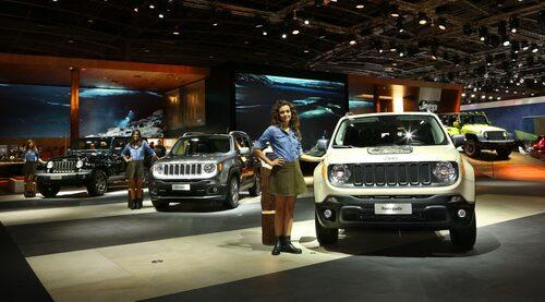 Jeep på bilsalongen i Paris 2016.