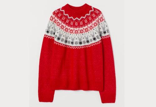 Röd jultröja för dam, från H&M.
