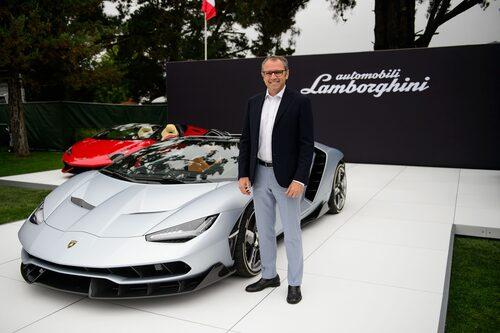 Stefano Domenicali och Centenario Roadster i Kalifornien.