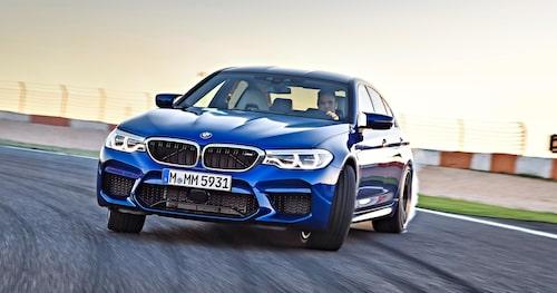 Så här ser dagens BMW M5 ut, första generationen med M xDrive-fyrhjulsdrift.