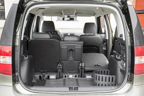 Här har ni det berömda bagageutrymmet. 1 760 VDA-liter av ren lycka.
