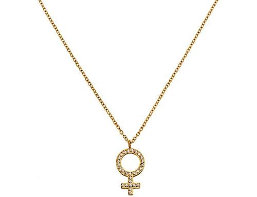Halsband från Edblad med kvinnosymbolen.