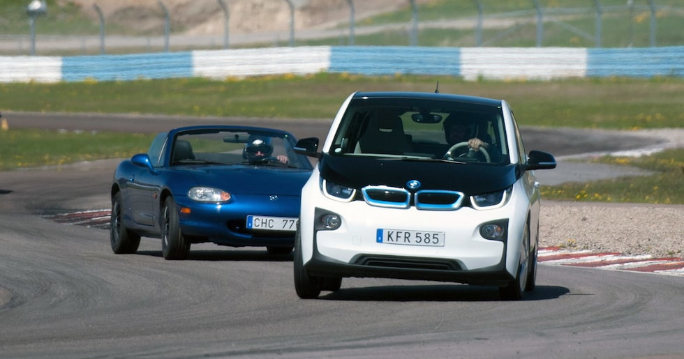 Leo Johansson i BMW i3, första elbilen någonsin på våra trackdays!