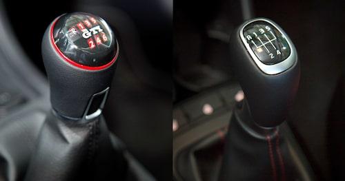 Olika antal växlar och olika design hos bilarna.