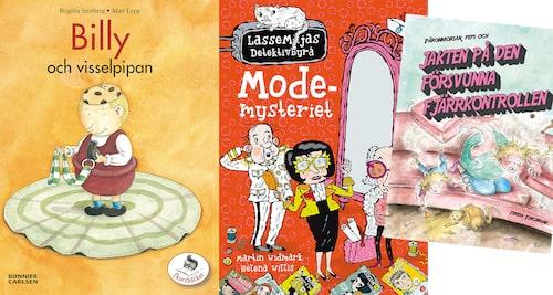 Gullige Billy, tokiga karaktärer i LasseMaja och vuxenhumor i Päronmorsan blir uppskattade böcker för 4-5-åringar.