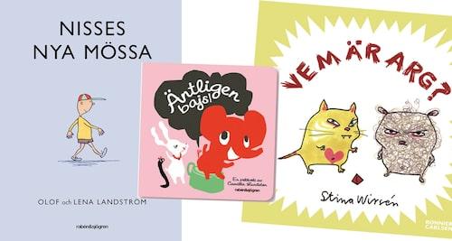 Nisses nya mössa, Äntligen bajs och Vem är arg – bra böcker för de yngsta!
