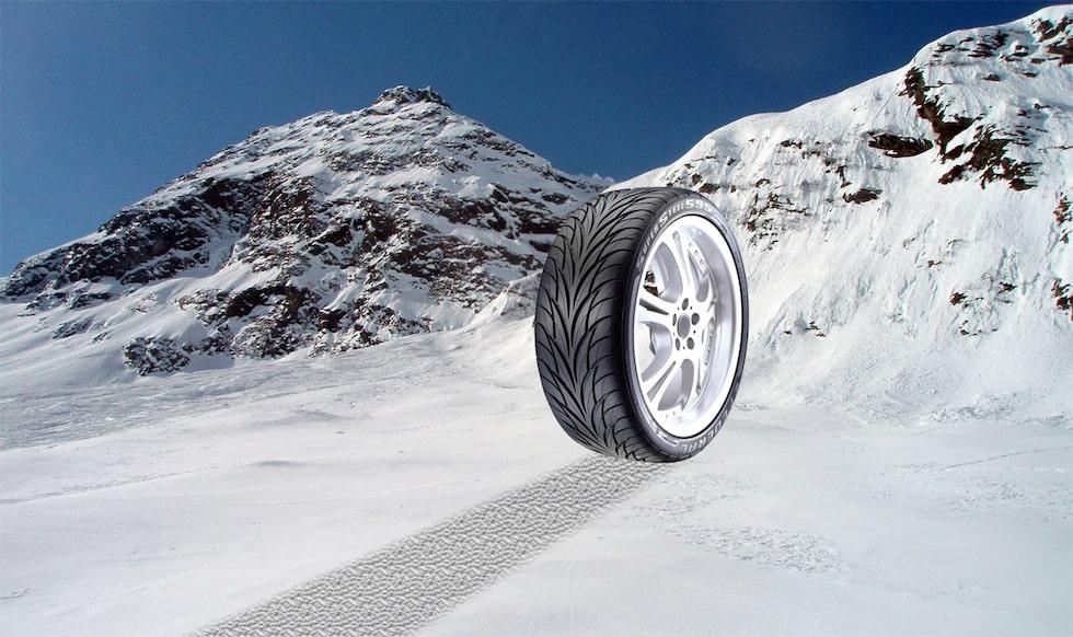 Ett spektakulärt pr-jippo i de snöiga brittiska alperna. Jo, det är sant.