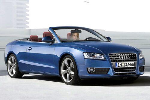 Illustration av hur Audi A5 Cabriolet kan komma att se ut.