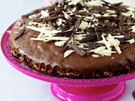 Choklad- och nougattårta