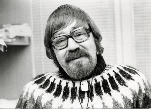 1978 är Gunnar 45 år och ser ut som en snäll gammal farbror – och favorittröjan har han på sig.