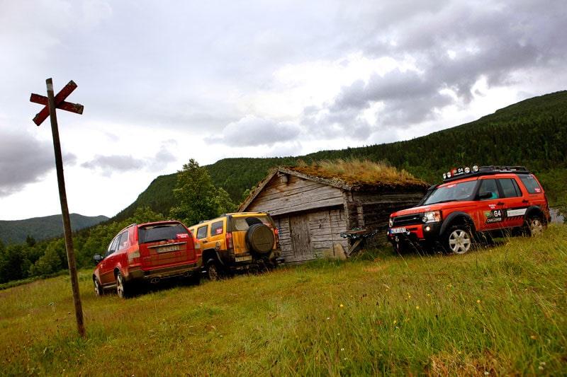 Provkörning av Hummer H3 3,7, Discovery 3 TdV6 G4 Challenge och Volvo XC90 D5 R-Design