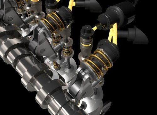 Multiair: En pistong påverkad av en mekanisk kamaxel påverkar insugssventilerna via en hydraulisk kammare vars tryck regeleras av en solenoidventil. Stängs solenoidventilen blir kammarens olja stum och överför lyftrörelsen som kamaxeln ger. När solenoidventilen öppnas kopplas ventilerna ifrån och följer inte längre kamaxelns påverkan. Systemet kan välja att öppna och stänga insugssventilerna beroende på behovet av kraft och vridmoment.