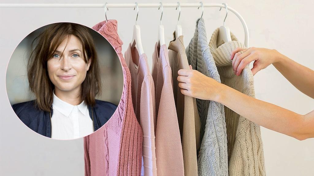 Lisa Pettersson tipsar om hur du rensar garderoben bäst.